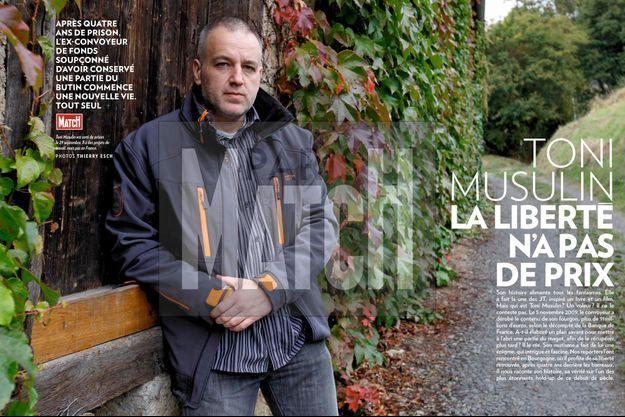 Toni Musulin est sorti de prison le 29 septembre. Il a des projets de travail, mais pas en France.