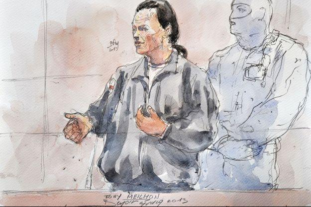 Tony Meilhon durant son procès en 2013
