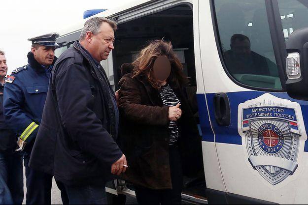 Une des Françaises arrêtées vendredi en Serbie.