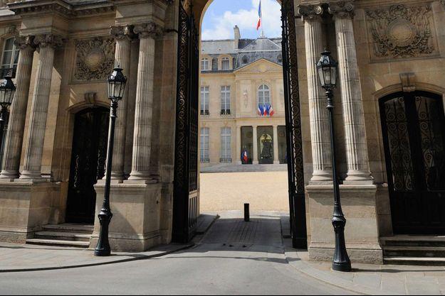 Image d'illustration. L'entrée du palais de l'Elysée.