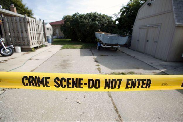 Une scène de crime aux Etats-Unis (Image d'illustration).