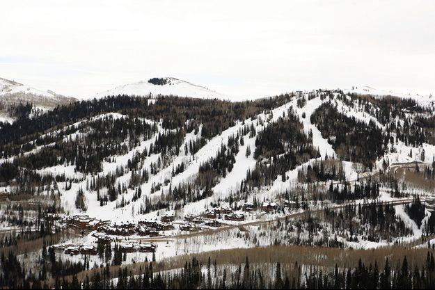 Une station de montagne de l'Utah. Image d'illustration.