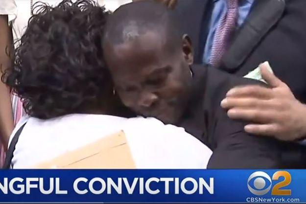 Carlton Roman à sa sortie de prison.