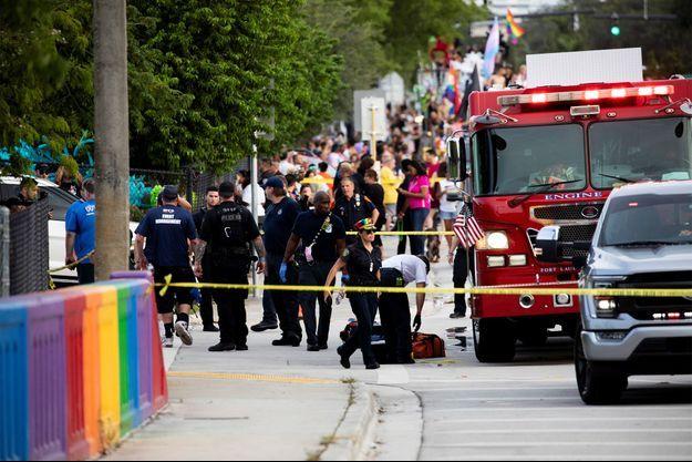 Les secours interviennent après l'incident survenue lors d'une gay pride en Floride.