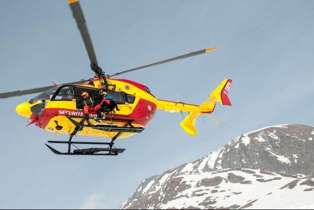 Image d'illustration. Un hélicoptère de la sécurité civile .