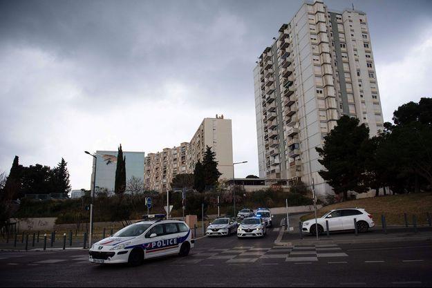 Dans la cité des Oliviers, à Marseille, en mars 2020.