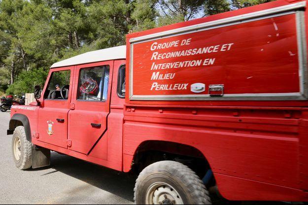 Image d'illustration, une équipe de pompiers du Grimp.