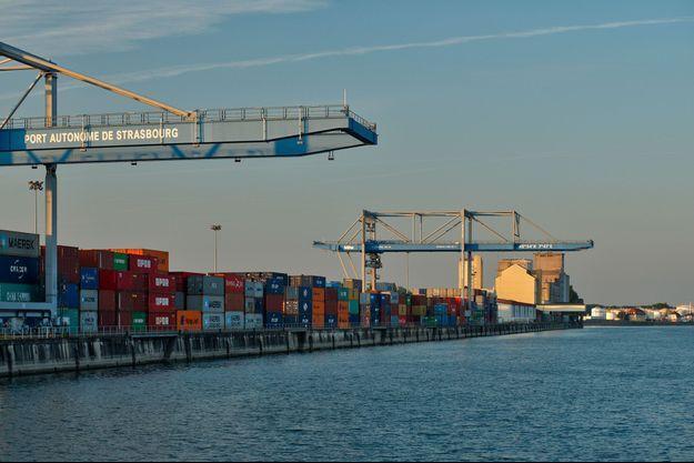 Le port de Strasbourg, ici en septembre 2017.