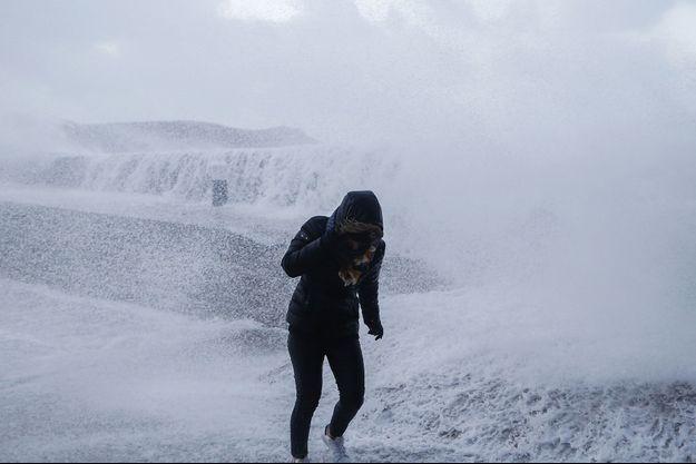Des vagues déchaînées en Normandie lors de la tempête Eleanor, le 3 janvier dernier (image d'illustration).