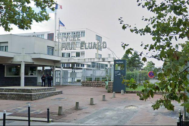 le lycée Paul-Eluard, à Saint-Denis.