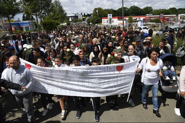 Marche blanche à Lorient, le 13 juin 2019.