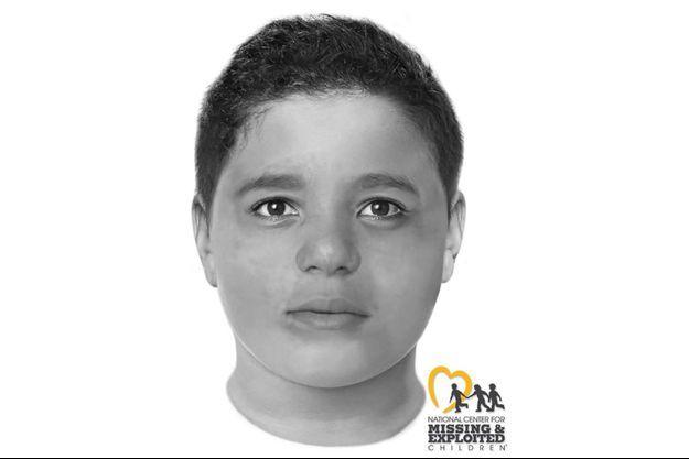 L'image numérisée de ce à quoi ressemble le petit garçon retrouvé mort.
