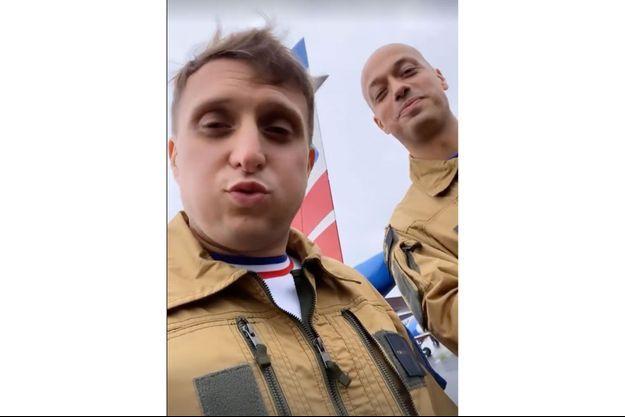 McFly et Carlito avant leur vol avec la Patrouille de France.