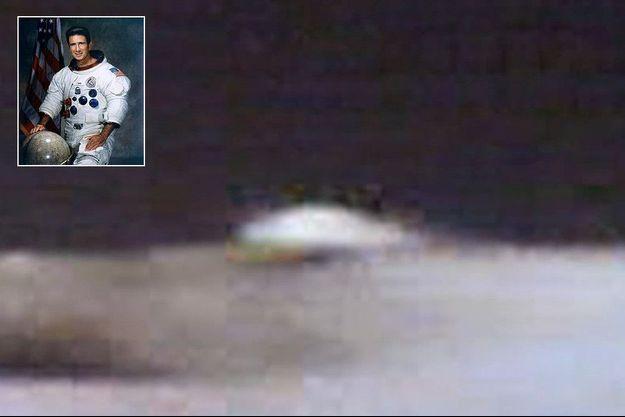 L'anomalie filmée en 1971 par Jim Irwin, en médaillon.