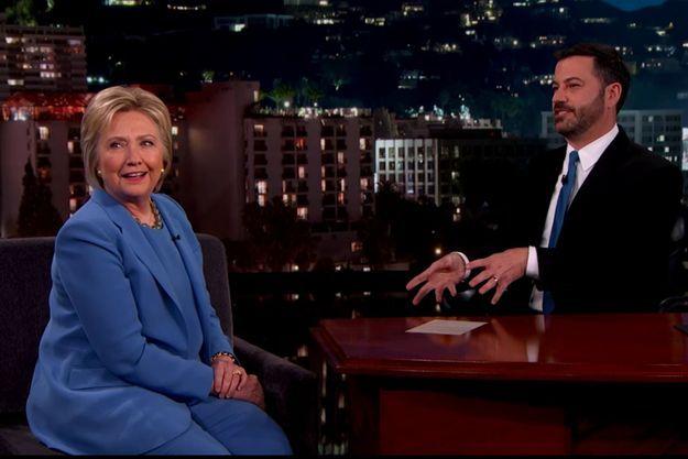 "Hillary Clinton au ""Jimmy Kimmel Show"" le 24 mars dernier."