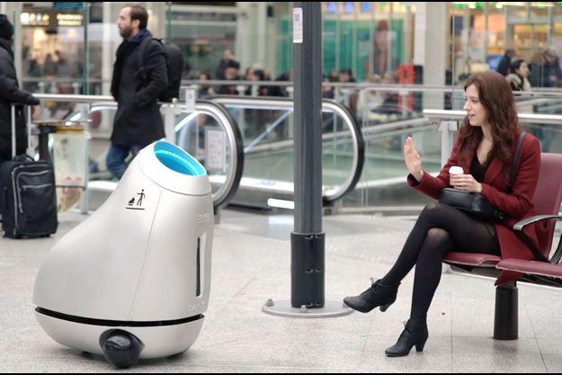 Baryl, le petit robot avide de détritus