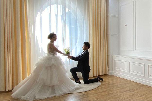 Un mariage doublement heureux. (Photo d'illustration.)