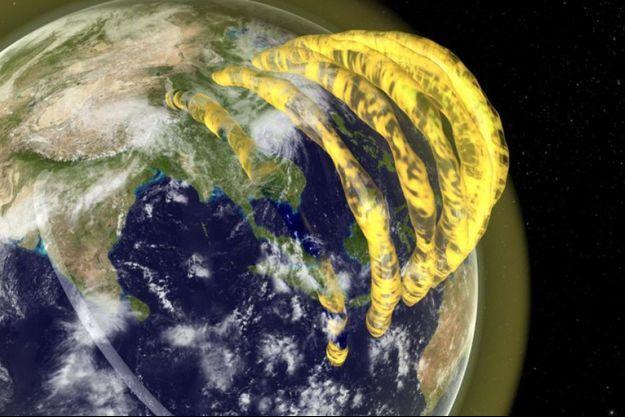 Ces gigantesques structures se forment sous l'effet de l'ionisation de l'atmosphère par par les rayons solaires.