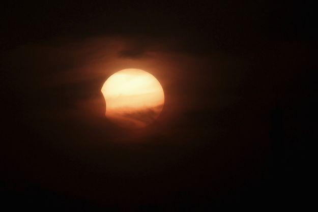 Une éclipse à Amman en 2013.