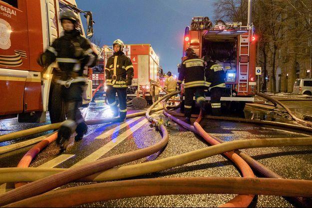 Des pompiers russes. (image d'illustration)
