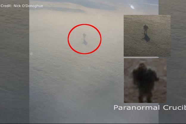 L'ombre d'un géant marchant sur les nuages ?