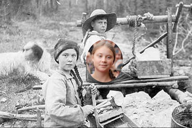 Le cliché de 1898 issu des archives de l'université de Washington et tweeté par le compte @history2cool ou apparaît la jeune fille, sosie de Greta Thunberg.