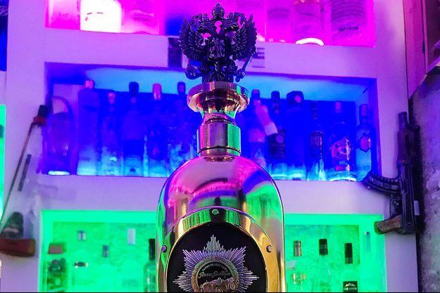 La bouteille de vodka Russo-Baltique qui a été dérobée à Copenhague, sur une photo non datée.