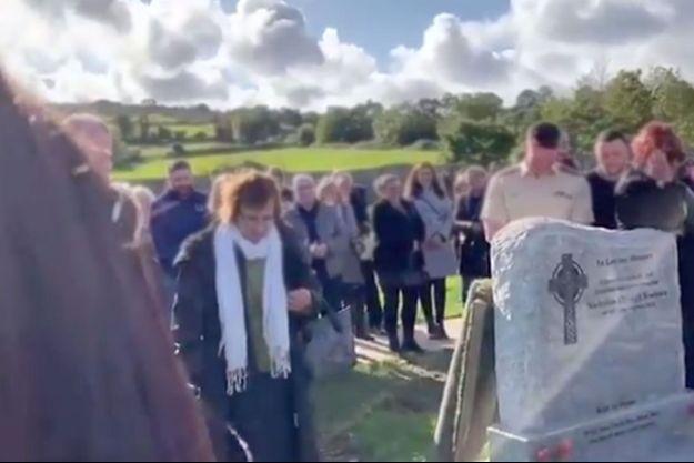 Les obsèques de Shay Bradley, samedi, en Irlande.