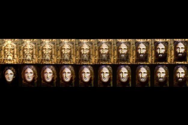Lers différentes étapes du rajeunissement du visage du Christ du Saint-Suaire.