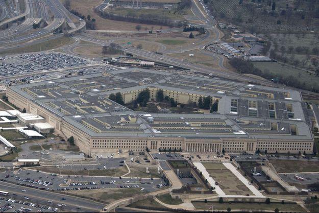 Vue aérienne du Pentagone, près de Washington,.