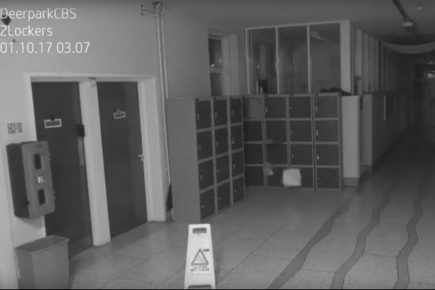 Une image tirée de la vidéo enregistrée dans l'école Deerpark.