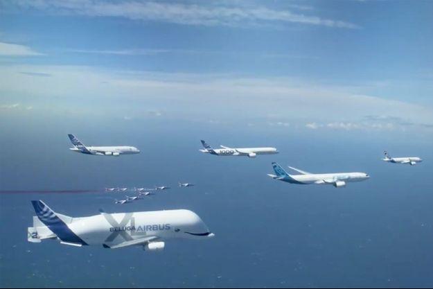 La flotte commerciale d'Airbus.