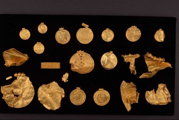 Une partie du trésor découvert au Danemark.
