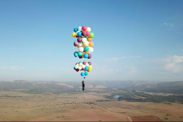 Tom Morgan dans le ciel d'Afrique du Sud.