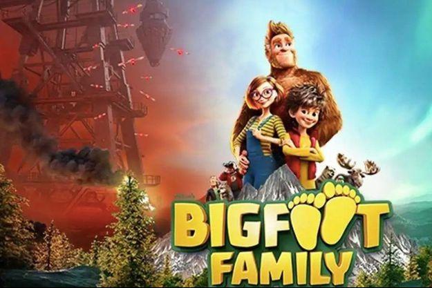 """L'affiche du brûlot anti pétrolier, """"Bigfoot family"""""""