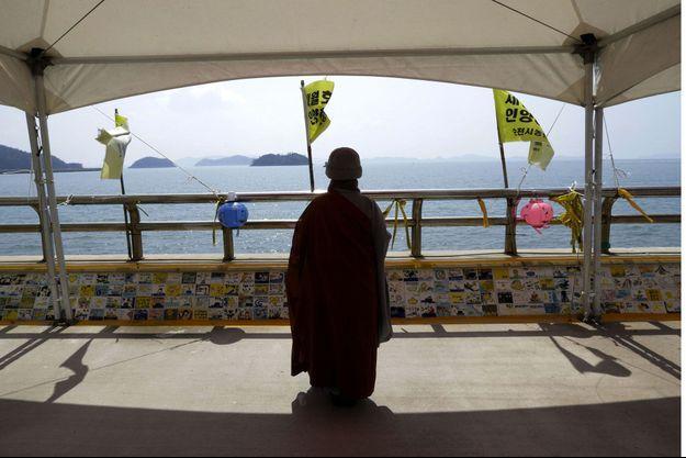 Un moine bouddhiste en Corée du Sud.