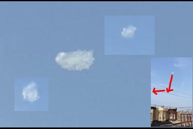 Des images du nuage baladeur filmé à Philadelphie.