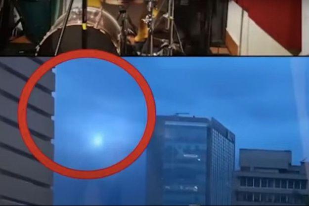 La sphère lumineuse est apparue à gauche de l'écran avant de s'élever verticalement à toute vitesse.