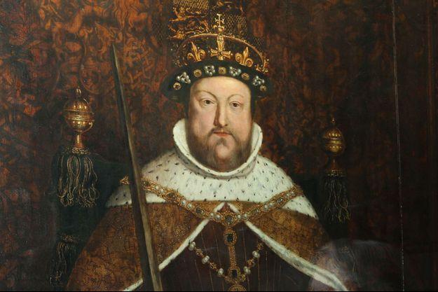 Un portrait d'Henry VIII lors d'une exposition à la British Library consacrée au monarque.
