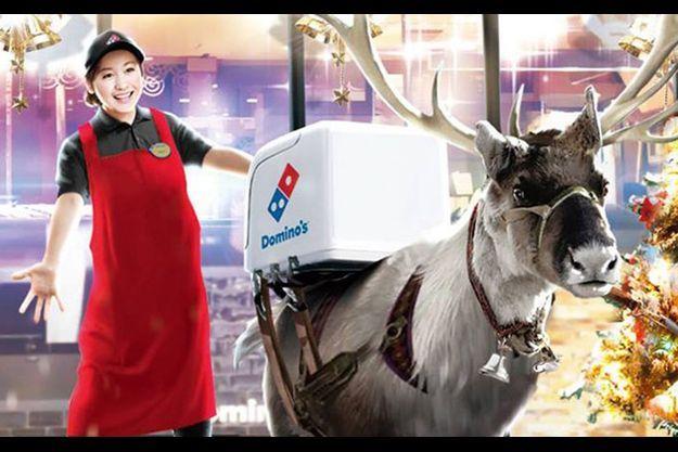 Les rennes livreurs de Domino's pizza au Japon