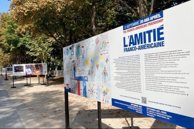 L'exposition « 11-Septembre, 20 après. L'amitié franco-américaine » se déroule du 6 au 13 septembre en bas des Champs-Elysées, à Paris.