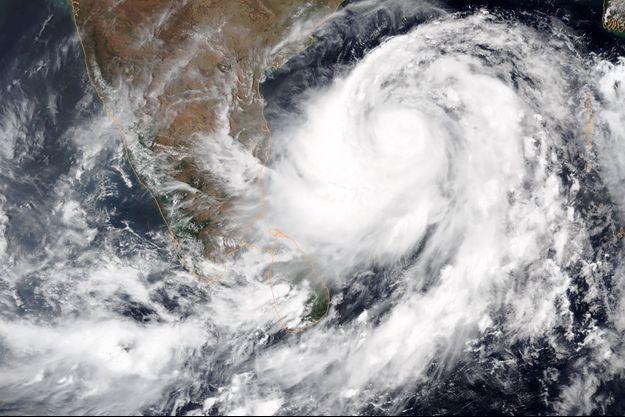 Image satellite de Fani, en Inde, le 1er mai 2019.