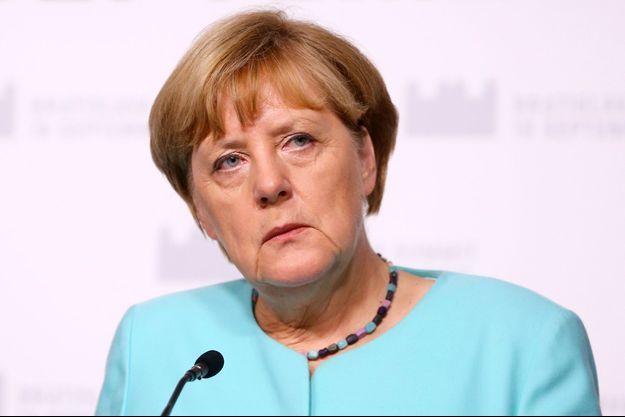 La chancelière allemande Angela Merkel à Bratislava, le 16 septembre 2016.
