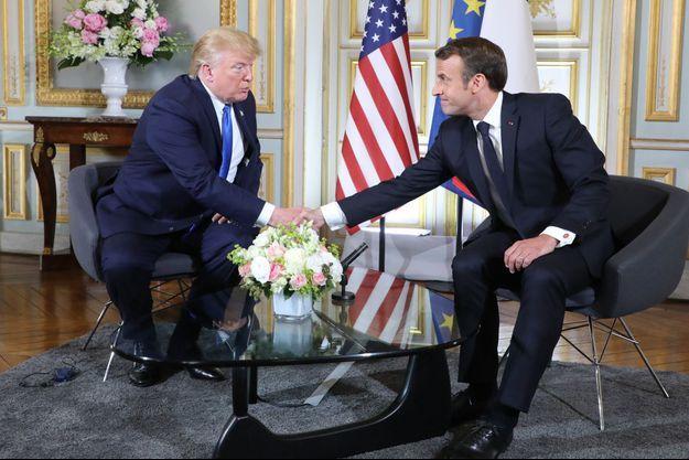 Rencontre à Caen entre Donald Trump et Emmanuel Macron.