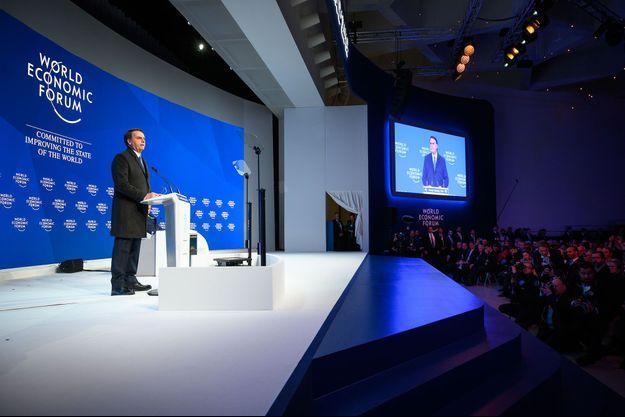 Jair Bolsonaro à Davos, mardi.