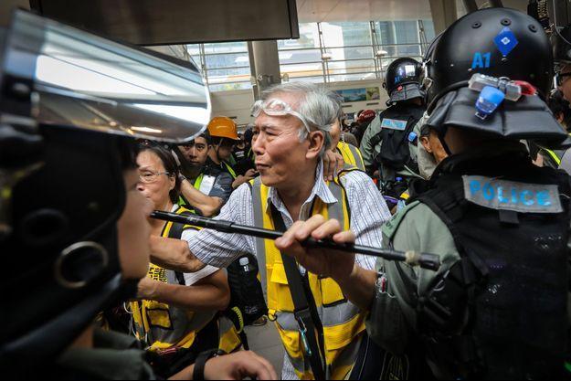 «Papy Wong», à Hong Kong, le 7 septembre 2019.