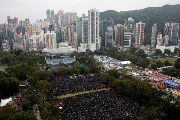 Manifestation à Hongkong, mercredi.