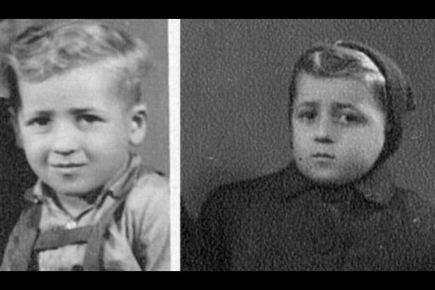 Menachem Bodner quand il était enfant. Il recherche toujours son jumeau, dont il a perdu la trace à Auschwitz.