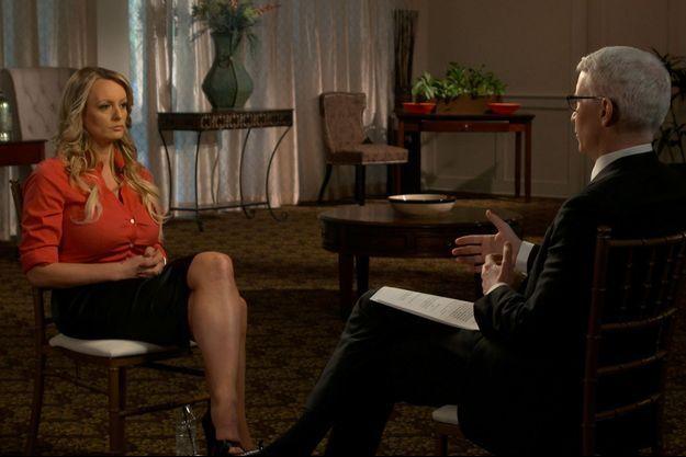 Stormy Daniels dans l'émission 60 Minutes.