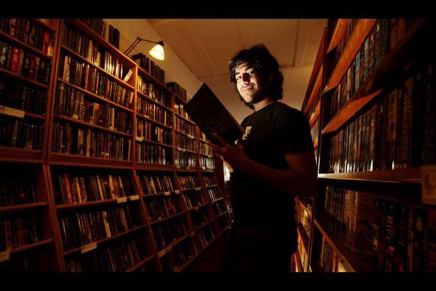 Aaron Swartz s'est pendu vendredi, dans son appartement de New York. Ici, sur une photo prise à San Francisco en février 2008.
